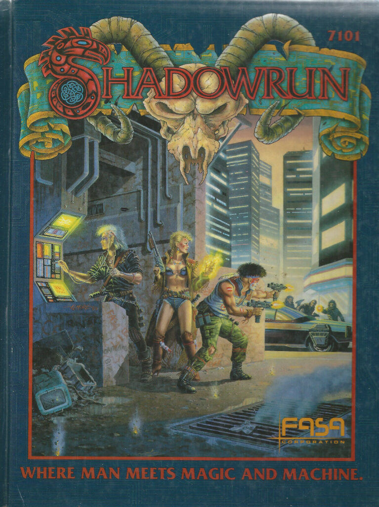 Cover of 1989 rules for Shadowrun