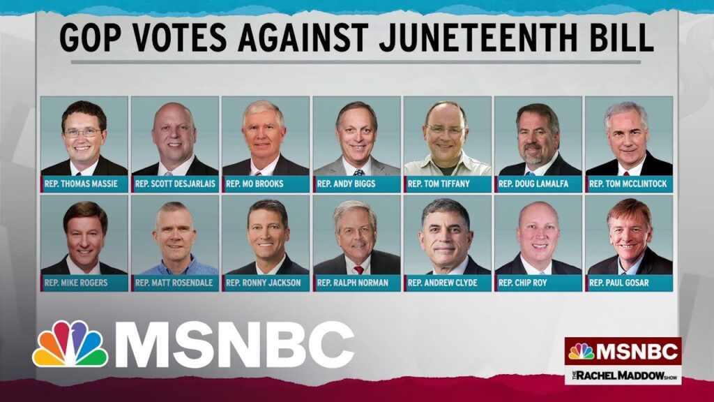 14 republicans who voted against juneteenth bill