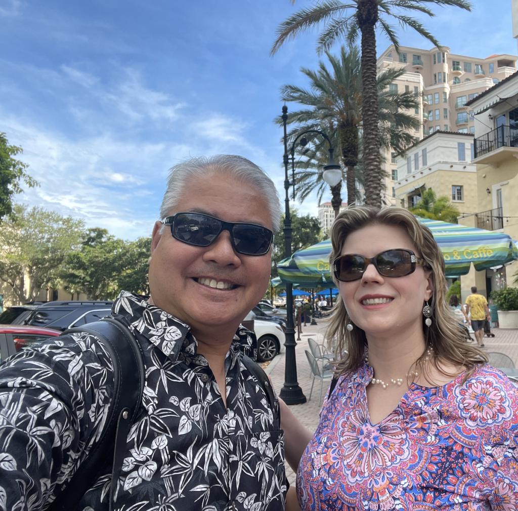 Joey deVilla and Anitra Pavka on Beach Drive, St. Petersburg, Florida, June 2021.
