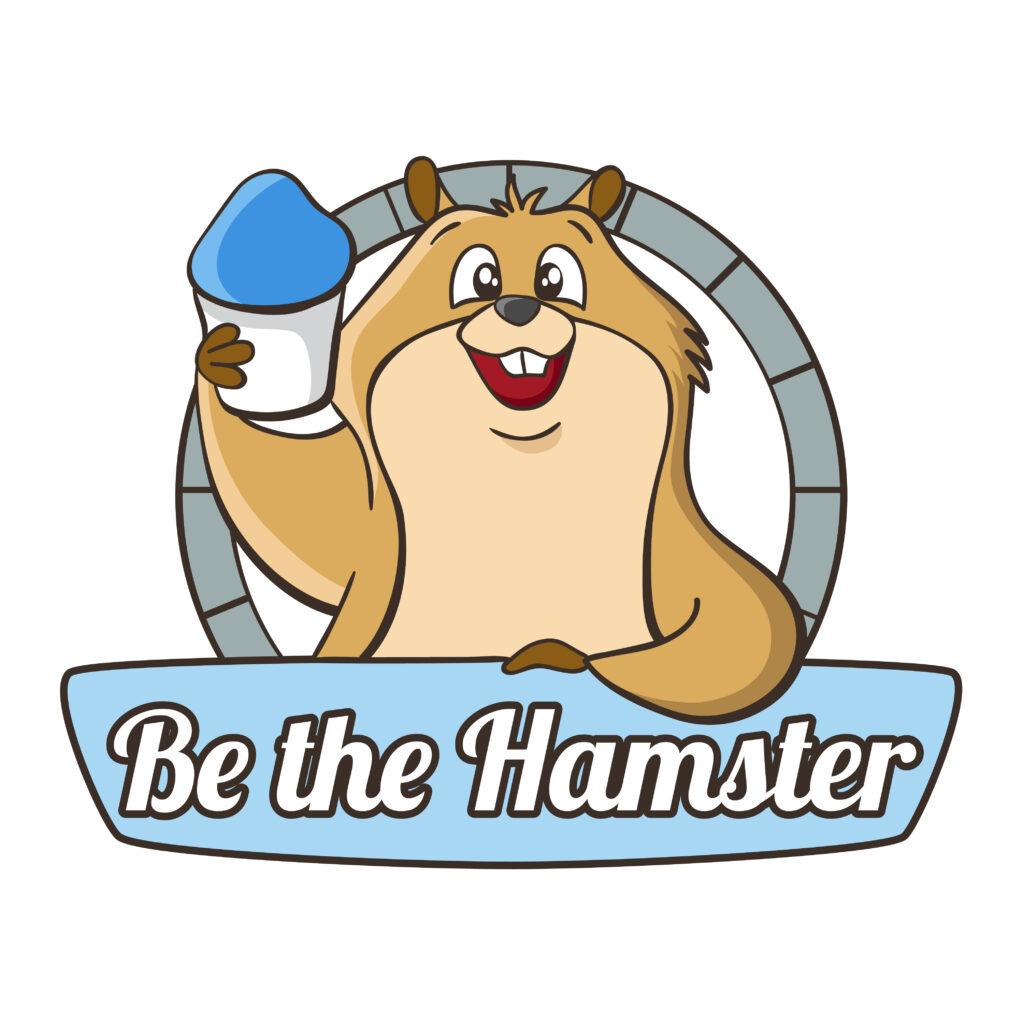 """Be the Hamster"" logo"