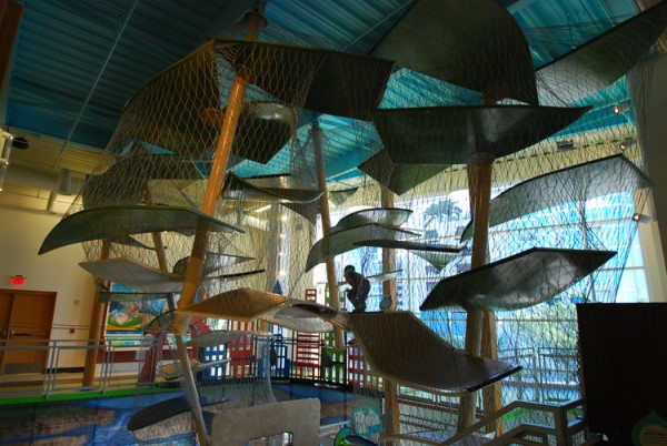 The climber at the Glazer Children's Museum